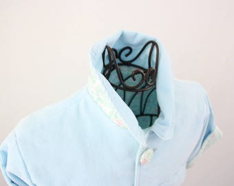 Baby jacket of corduroy in light blue, size 74