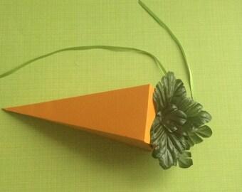Easter carrot  favor/treat/gift box