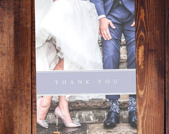 Picture Wedding Thank You Card, Envelope Included - Customizable