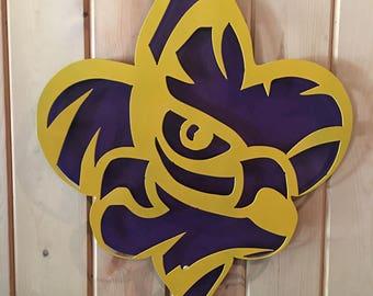 LSU Tiger Eye Fleur de Lis