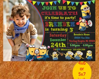 Minions Birthday Invitation, minion birthday, minion invitation, minion invite, minion party, minion printable, instant download