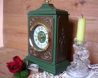 Clock vintage Soviet Union quartz table Jantar clock, mantel clock, battery clock, work order, rare clock, antique desk clock