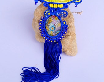 Soutache jewelry necklaces boho jewelry necklace colorful fashion followers tassel