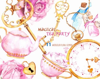 Alice png , Alice in wonderland clipart png , alice supplies , mad hatter clipart , Alice birthday card, tea party birthday card clips