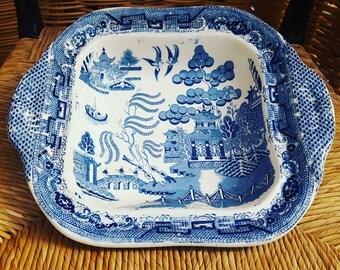 Plat de service en faïence Blue Willow - Serving dish Blue Willow Antique Crockery