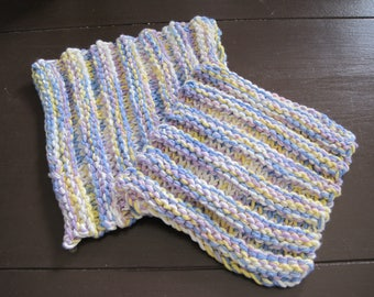 Spring Coloured Knit Dishcloth/Hot Pads, Set of 2