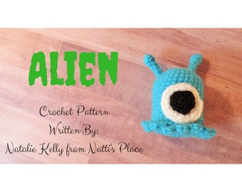 Alien Plush Crochet Pattern Digital Download PDF Pattern