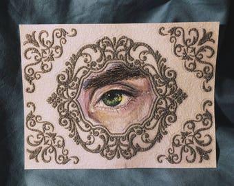Watercolor eye drawing of Connor Franta