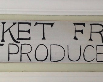Rustic Market Fresh Produce Sign, Produce Sign, Wood Produce Sign, Reclaimed Wood Produce Sign, Kitchen Decor Sign, Reclaimed Wood Kitchen
