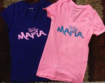 TipToe Mafia Logo T-shirts/ TipToe Mafia/ Vnecks