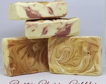 Rustic Cherry Cobbler Handmade Soap