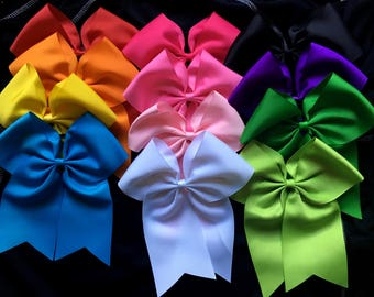 solid cheer bow mix