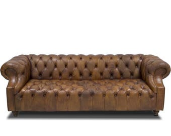 3 seater Chesterfield sofa - Top Quality Buffalo Leather