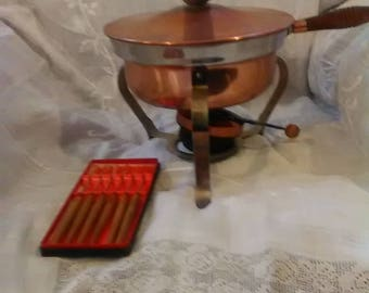 COPPER FONDUE POT