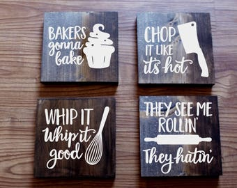 kitchen signs | etsy