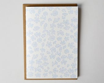 Petals Letterpress Greeting Card