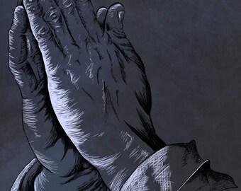 Praying hands inspired