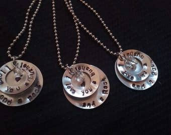 Personalized Hand Stamped Round Disks