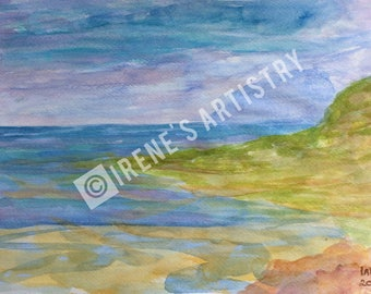 Watercolour Painting - Ocean View