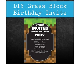 """5"""" x7"""" Birthday Invitation - DIY - Download and Fill it In Yourself - No Graphic Design Program Needed"""