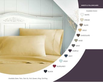 Bed Sheets - 1500 Thread Count - Comparable Egyptian Cotton