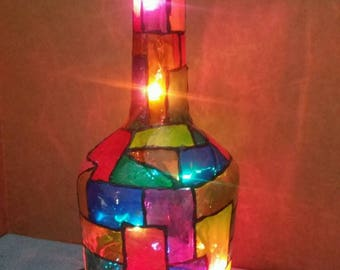 Made to order...Medium stain glass lamp