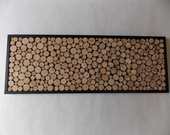 Slices of wood, branch tree, Wall Art, wall art wood