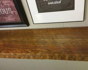 Reclaimed wood shelf,Industrial Pipe,Rustic Farmhouse Decor.reclaimed wood floating shelf,