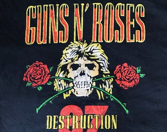 Guns N Roses t shirt uk tour 1987 size Xl
