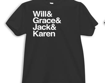 Will and Grace Helvetica Tee/Tank