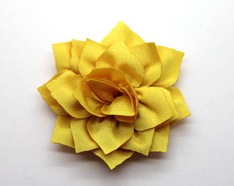 2 Yellow Poinsettia Flower Baby Girl Flower Hair Clips Brooches