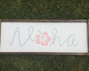 Aloha With Hawaiian Flower