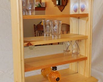 Collectable shot glass display case