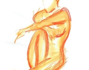 Nude female nude orange