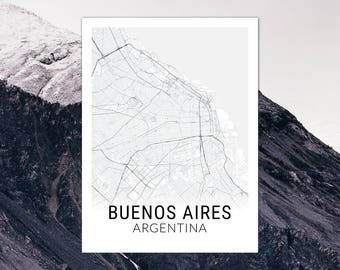 Buenos Aires Argentina Map Print