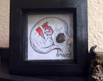 13 Skull, Original Drawing - 1 avaliable !!