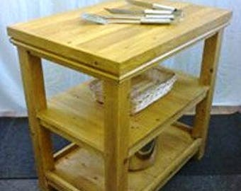 MADE TO ORDER - Hand Crafted Large Kitchen Island / Butchers Block