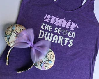 The Seven Dwarfs Ears and Shirt set, Seven Dwarfs Shirt, Seven Dwarf Ears, Mine Train