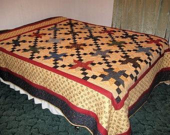 Queen size pinwheel quilt