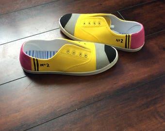 No. 2 Pencil Canvas Shoes