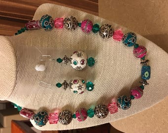 Multicolor beaded jewelry sets