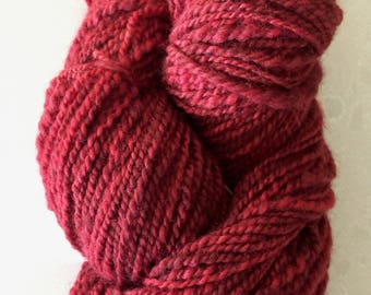 Handspun Hand-dyed Wool Yarn, Worsted Weight