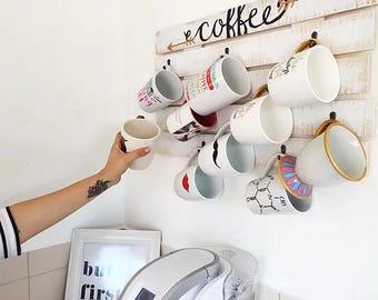 Pallet Coffee Mug Holder