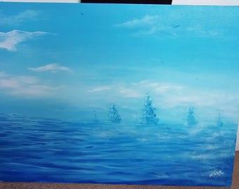 fleet in the mist