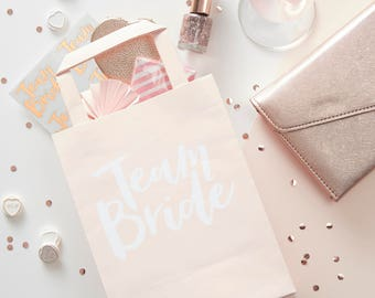 Pink Team Bride Party Bags, Hen Party Bags