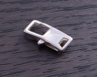 One Sterling Silver 16.2mm Square Lobster Claw Clasp DB4O