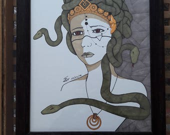 Gorgon - Original Drawing