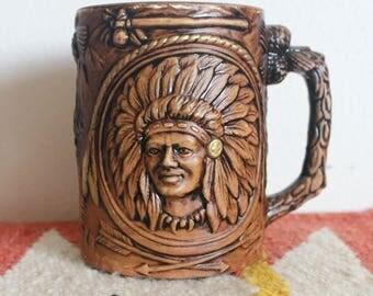 "Vintage Native American ""Indian Prayer"" Mug"