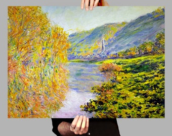 Poster 50x70 cm Banks of the Seine at Jeufosse - Claude Monet Digital