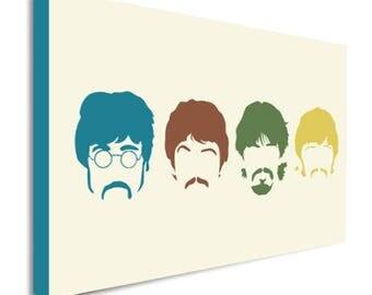 Beatles Pop Art Canvas Wall Art Print - Various Sizes